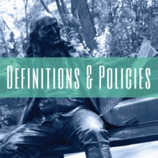 Definitions and Policies