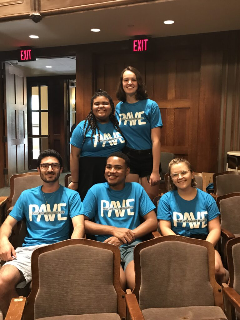 PAVE educators before Speak About It at NSO